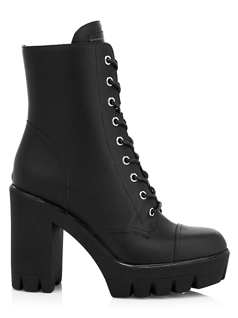 Moyra Leather Combat Boots