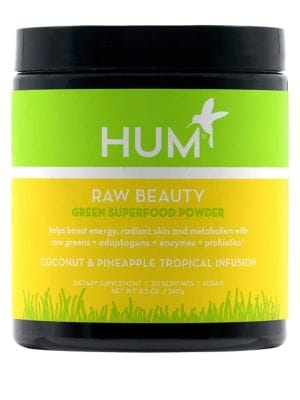 Hum Nutrition Raw Beauty Skin Energy Green Superfood Powder