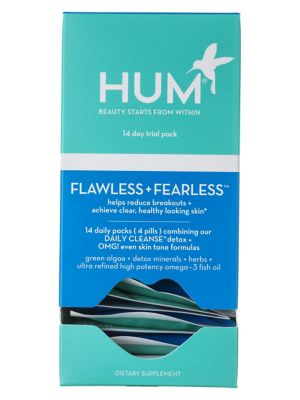 Hum Nutrition Flawless Fearless Clear Skin Acne Supplement Kit