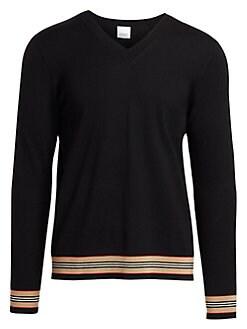 1ca8d6a14a5c Burberry. Merino Wool V-Neck Sweater
