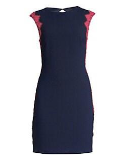 81df0dca QUICK VIEW. Trina Turk. Lace-Trimmed Sheath Dress