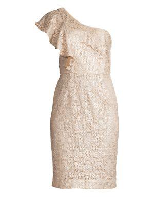 Launch One Shoulder Lace Sheath Dress
