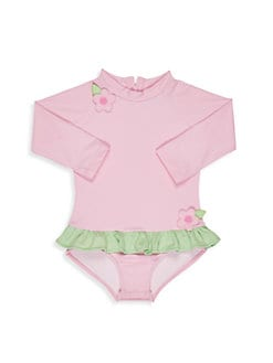 8310d90305 Baby Girl's Ruffle Swimsuit LIGHT PINK. QUICK VIEW. Product image