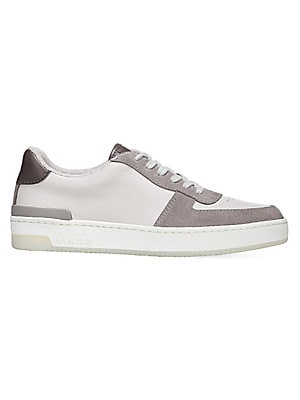 80f66466d63e8 Vince - Rendel Suede   Leather Patchwork Low-Top Sneakers - saks.com