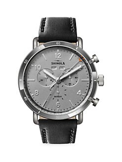 fdb3d3fc97e QUICK VIEW. Shinola. Canfield Sport Stainless Steel   Leather-Strap  Chronograph Watch.  850.00