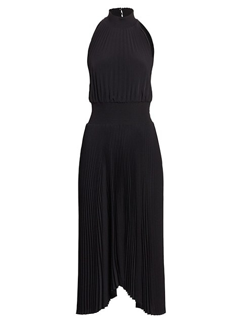 Renzo Pleated Midi Dress