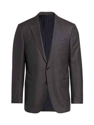 Ermenegildo Zegna Jackets Paneled Wool & Silk Jacket