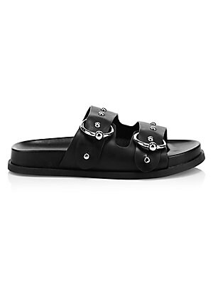 2cd158e350542c Rockstud Leather Gladiator Sandals.  895.00 · Rebecca Minkoff - Vachel  Metallic Buckled Slides