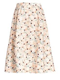 b5a3d658f4 QUICK VIEW. Marni. Cotton Valley Print Circle Midi Skirt