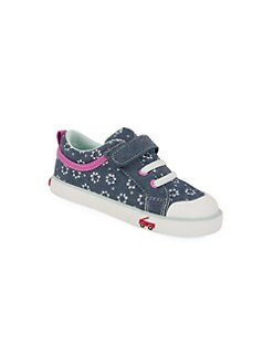 4bdbb55d3 Product image. QUICK VIEW. See Kai Run. Little Girl's Floral Chambray  Sneakers