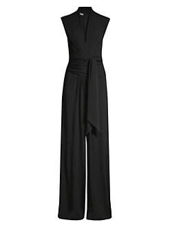 f75450cb039 Michael Kors Collection. Palazzo Wrap Jumpsuit