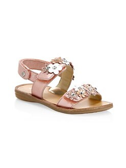 59049adf1e2 Product image. QUICK VIEW. Naturino. Little Girl s   Girl s Floral  Embellished Leather Sandals