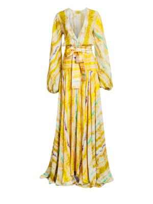 Silvia Tcherassi Tops Annmarie Printed Wrap Gown