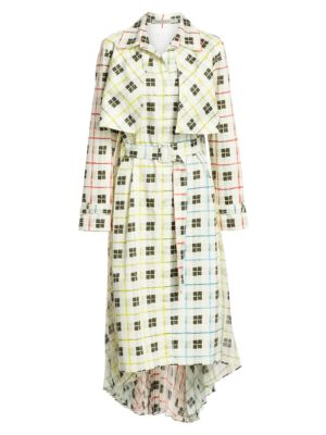 Silvia Tcherassi Dresses Birdie Printed Trench Shift Dress