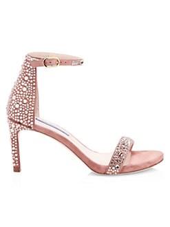 fead5e9227 Stuart Weitzman. NuNaked Straight Embellished Suede Sandals