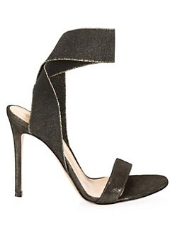 0c43df274f3 Gianvito Rossi. Strappy Elasticized Stiletto Sandals
