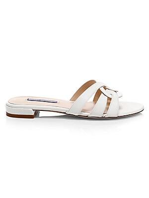 704224e28d35 Stuart Weitzman - Cami Leather Sandals - saks.com