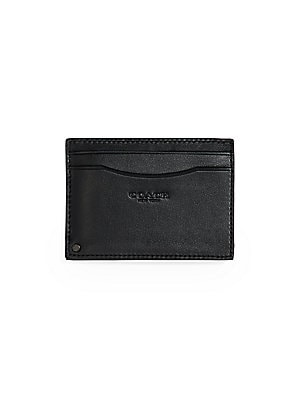439a0f88c5ba COACH - Signature Coated Canvas Swivel Card Case