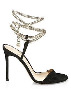 077ec2b22d05 Gianvito Rossi. Chain Leather Sandals