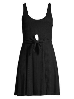 L*space Dresses Topanga Sleeveless Front Knot Keyhole Dress