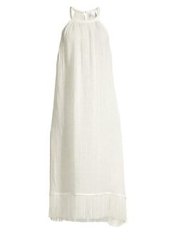 b8b5c89585 Ojai Gauze Sleeveless Fringe Dress WHITE GAUZE. QUICK VIEW. Product image.  QUICK VIEW. Lisa Marie Fernandez