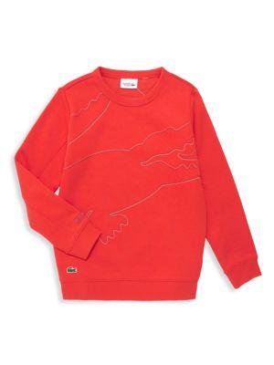 Lacoste Little Boy S Boy S Oversize Crocodile Print Sweatshirt