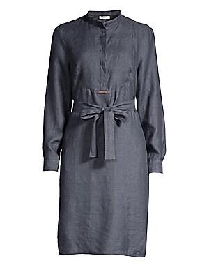 841bcd38 Peserico - Chambray Tie-Waist Midi Dress - saks.com