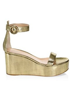 ee6be5411b1 QUICK VIEW. Gianvito Rossi. Metallic Platform Wedge Sandals