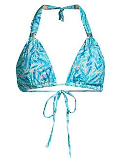 7533706433 Grenada Bikini Top BLUE LEAF. QUICK VIEW. Product image. QUICK VIEW. Melissa  Odabash