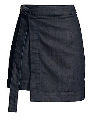 0db741da5b7 AG Jeans - Ahlaia Denim Wrap Skirt - saks.com