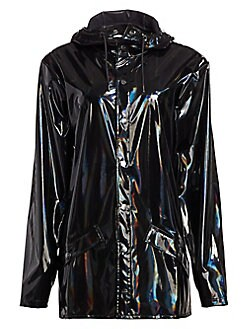 286285097 Rains. Holographic Rain Coat