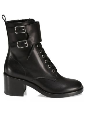 b37d1cf931b Fendi - Rockoko Leather & Knit Combat Boots - saks.com