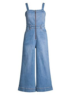 e95086f9be90 Alice + Olivia Jeans. Gaucho Denim Jumpsuit