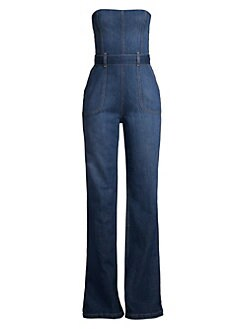 a102196f486a Alice + Olivia Jeans. Gorgeous Susy Strapless Denim Jumpsuit