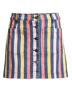02734e6c72 Product image. QUICK VIEW. 3x1. Rose Striped Mini Skirt