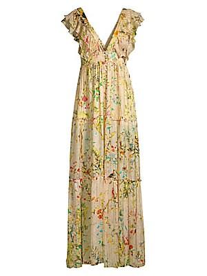 32cce8c1efc Hemant   Nandita - Short-Sleeve Floral Maxi Dress - saks.com