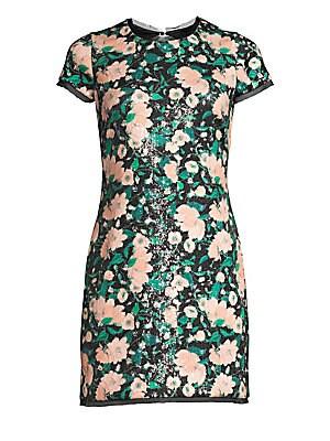 5236b008e95 Rachel Zoe - Sonia Floral Sequin Open Back Mini Dress