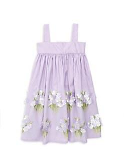 bdb678585cfa2f Isabel Garreton. Little Girl's Hydrangeas Sundress