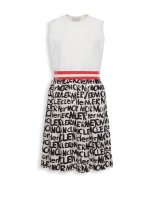 Moncler Little Girl S Girl S Abito Printed A Line Dress