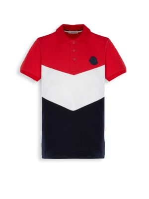 Moncler Little Boy S Boy S Maglia Chevron Polo Shirt