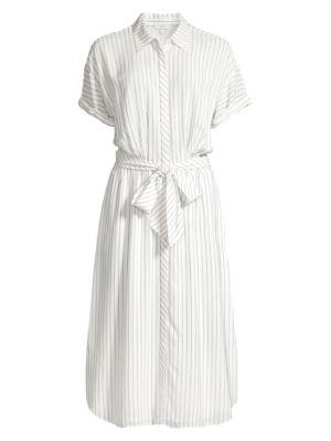 Joie Chellie Striped Tie Waist Shirtdress