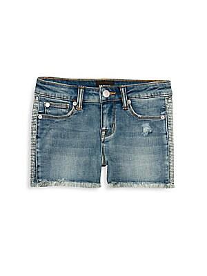 690fc2a9ec9 ag adriano goldschmied kids - Little Girl's Denim Patch Shorts ...