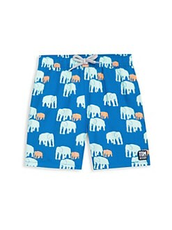 5ac272d8d9 Tom & Teddy. Baby Boy's, Little Boy's & Boy's Elelphant Swim Trunks