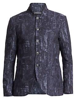 4c92822a53611 QUICK VIEW. John Varvatos Star U.S.A.. Slim-Fit Mandarin Collar Jacket