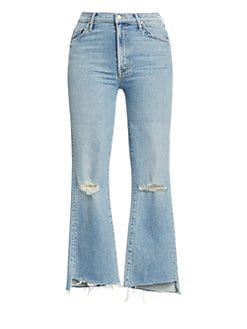 6c7f541ab949a MOTHER. Insider High-Rise Frayed Step Hem Distressed Crop Jeans