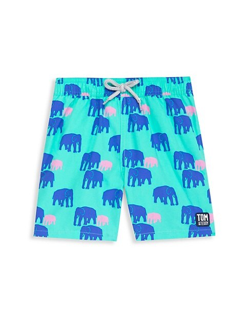 Baby's, Little Boy's & Boy's Elelphant Swim Trunks