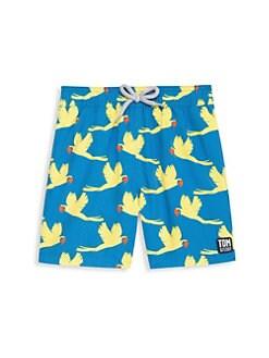 6c4b70e1a0 Tom & Teddy. Baby Boy's, Little Boy's & Boy's Parrot Swim Trunks