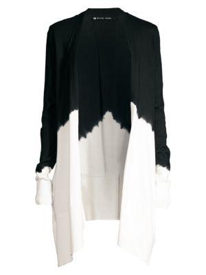 Blanc Noir Tops Dip-Dye Cotton Cardigan