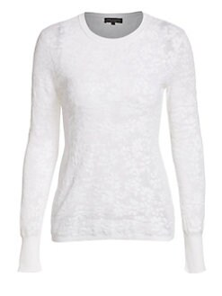 a0f337be75a Product image. QUICK VIEW. Rag   Bone. Perry Floral Jacquard Long-Sleeve Tee