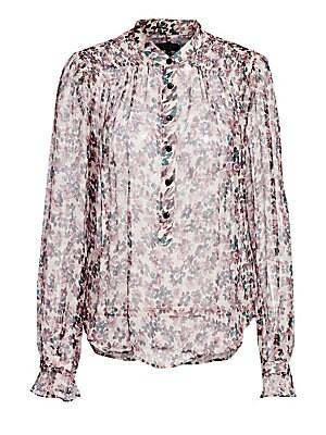 Susan Silk Long Sleeve Floral Blouse by Rag & Bone